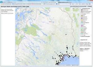 Översikt över Riksarkivets databas Sveriges äldsta storskaliga kartor 1630-1655 visar att underlag saknas för större delen av Norrbottens län. Något fler kartor finns i Lantmäteriets historiska kartor, men stora delar av länet saknar historiska kartor.