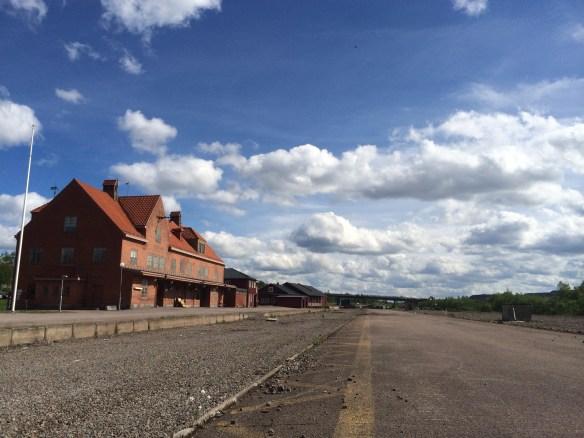 Spåren kring järnvägsomårdet är helt bortplockade. Foto: Jennie Björklund © Norrbottens museum