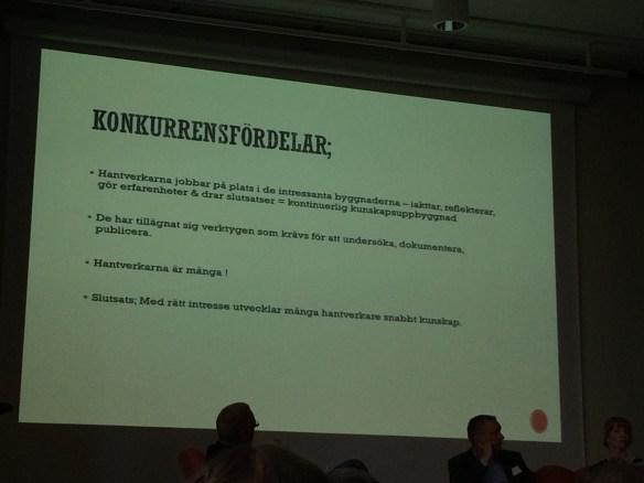 Hantverkarnas förändrade roll i branschen. Foto: Jennie Björklund © Norrbottens museum.