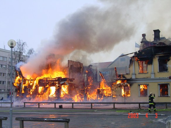 Folkets hus i brand