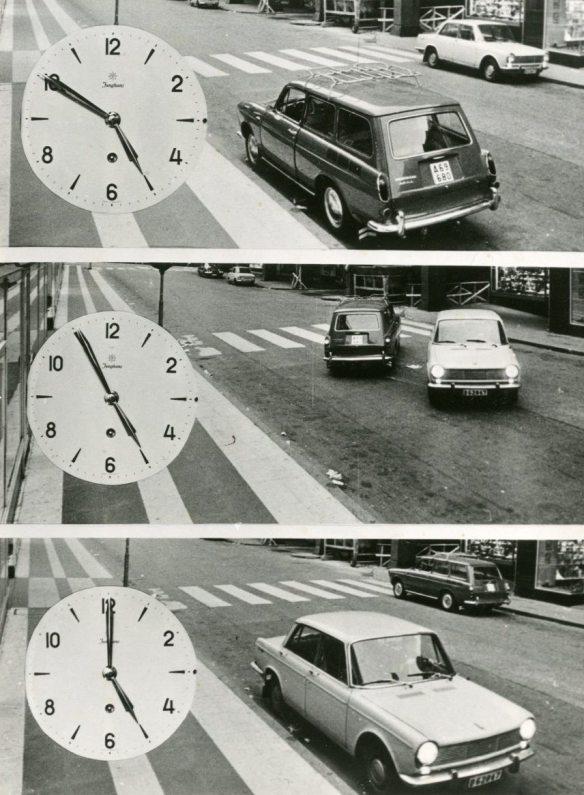 Högertrafikomläggningen - Reportagebild, Stockholm, ur Anders Granbergs privatarkiv