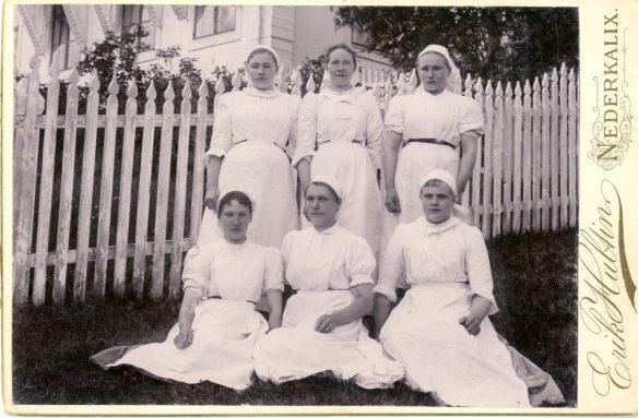 1895 års elever vid mejeriskolan i Björkfors