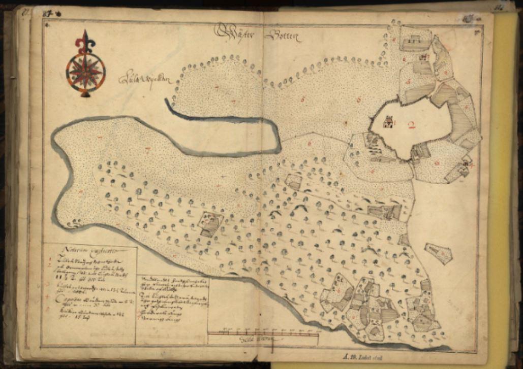 Luleå stad 1642, lantmätare Olof Tresk. LM Akt ID: Å19-1:z1:83-86