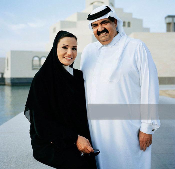 Шейха Моза с супругом.