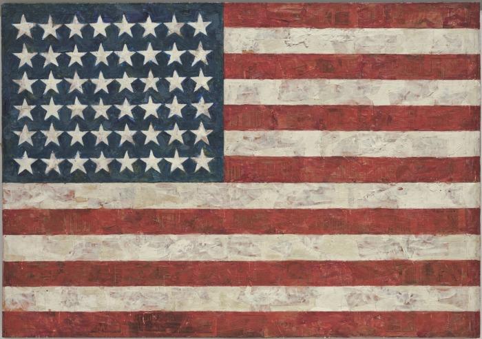 Флаг. Автор: Jasper Johns. | Фото: moma.org.