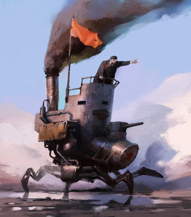 Революционная колесница. Автор: Владимир Малаховский.