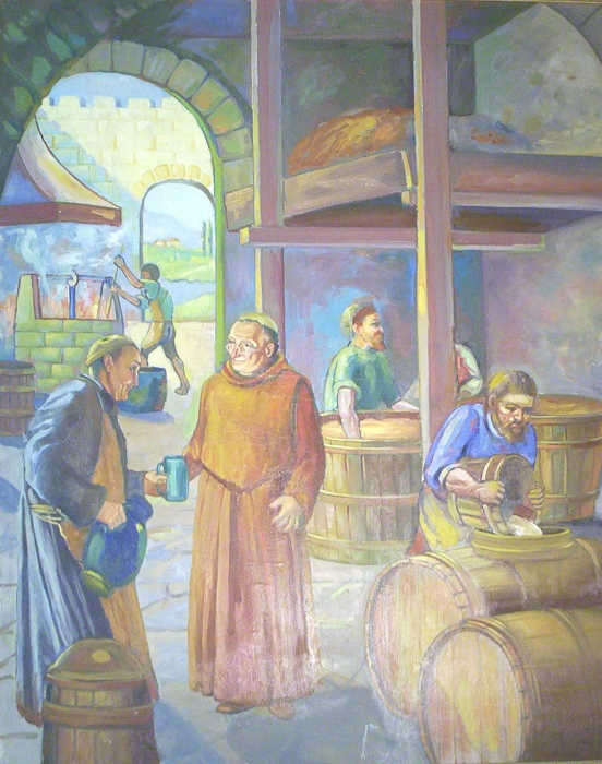 Монастырская пивоварня IX века. | Фото: brewingmuseum.org.