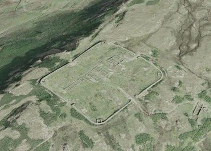 Древнее сооружение: форт перевала Харднотт.