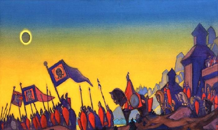 Н.К. Рерих. «Поход Игоря». (1942).