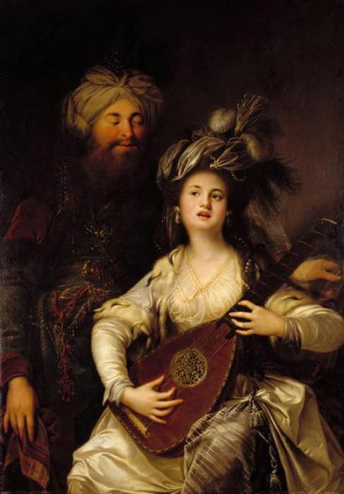 Сулейман и Хюррем. (1780). Автор: немецкий художник Anton Hickel.