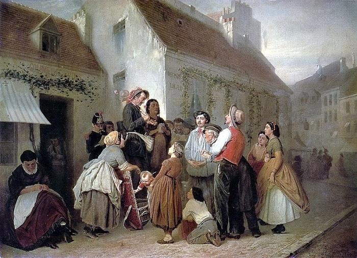 Продавец песенников. (1864). Автор: В.Перов.