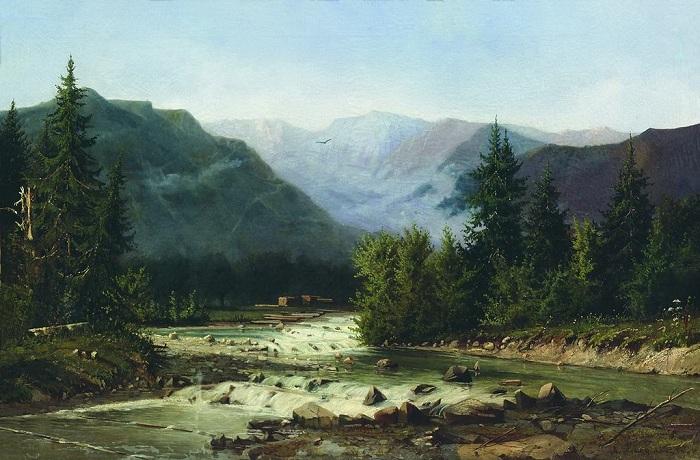 «Швейцарский пейзаж». Херсонский художественный музей. Автор: А.И. Мещерский.