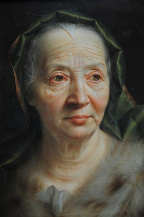 «Портрет пожилой женщины в зеленом шарфе». Автор: Кристиан Сейболд.