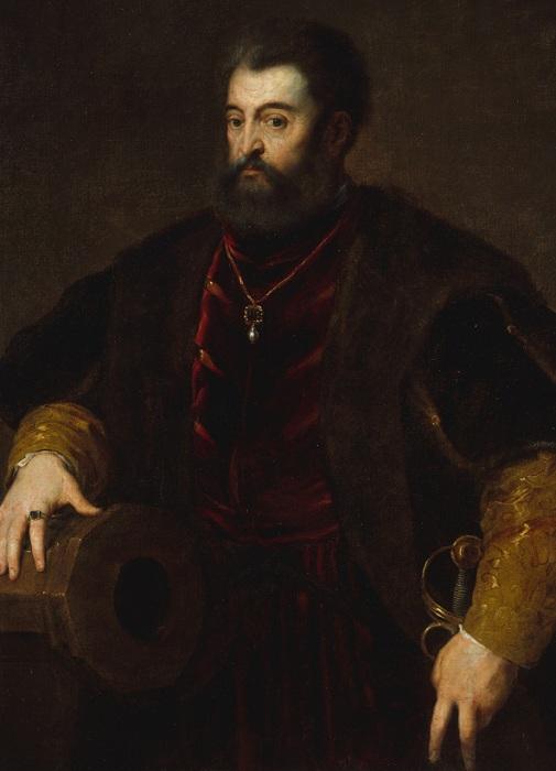 Портрет Альфонсо Д'Эсте, герцога Феррарского. Автор: Тициан Вечеллио.