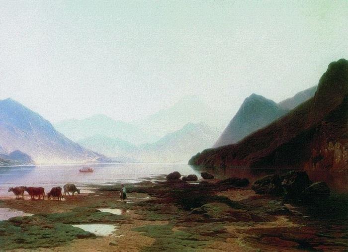 «Швейцарский вид». Автор: А.И. Мещерский.