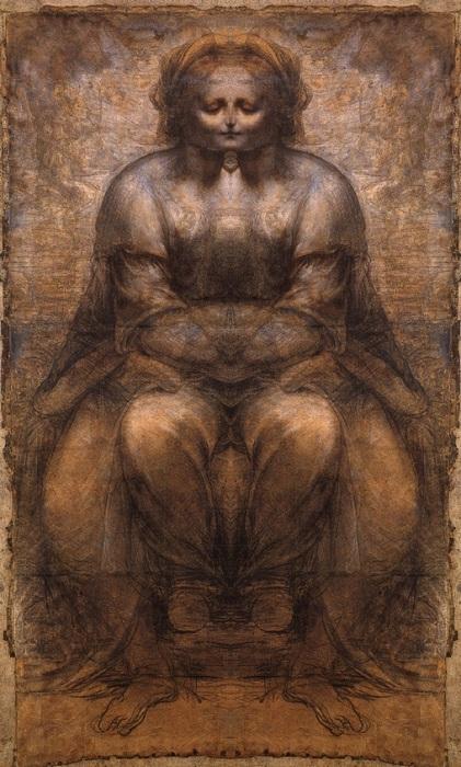 Зеркальный код Леонардо да Винчи. «Святая Анна с Мадонной и младенцем Иисусом».