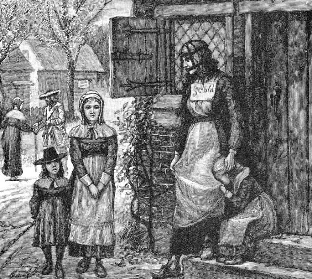 Наказанная женщина в «сварливом» колпаке./Фото: infomaniya.com