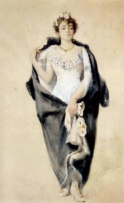Портрет Элизы Панте от Дзонаро.