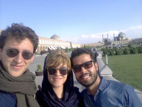 Amir mit seinen Freunden Mitja und Jelena in Iran | Foto: privat