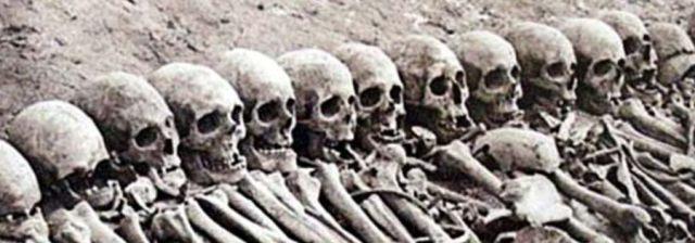 Knochen des armenischen Völkermords
