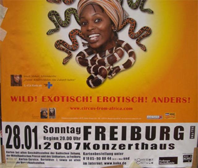 """Werbung für einen """"afrikanischen"""" Zirkus"""