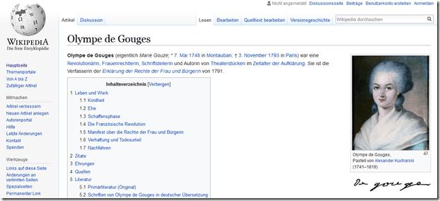 Frauenbiografien bei Wikipedia