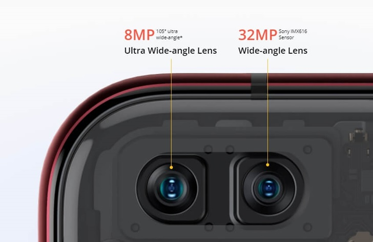 bagian depan kameran realme x50 pro