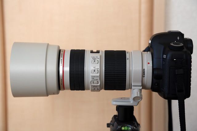 EF 70-200mm f/4L White lens hood
