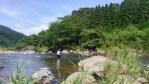 球磨川支流釣風景