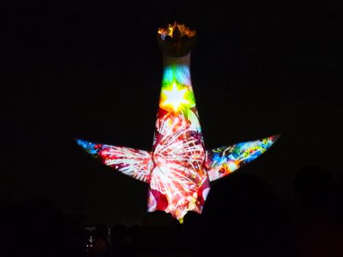 万博公園 太陽の塔 イルミネーション