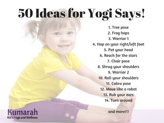 Yogi Says: an easy and active yoga game for kids!