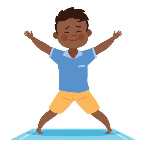 kids yoga lesson plan, breathing exercises for kids, star pose for kids yoga, mindfulness, breath