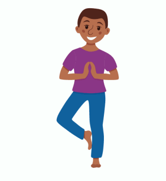 tree pose for kids, kids yoga poses, yoga at home with kids