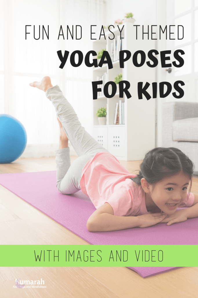 easy themed kids yoga poses, yoga poses for kids with a theme