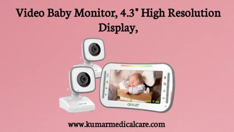 Video Baby Monitor, 4.3 High-Resolution Display
