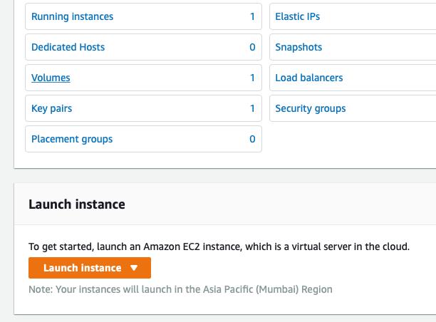 launch ec2 instance for WordPress