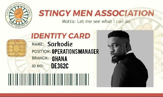 Sarkodie has been designated Operations Manager of the viral 'Stingy Men Association'