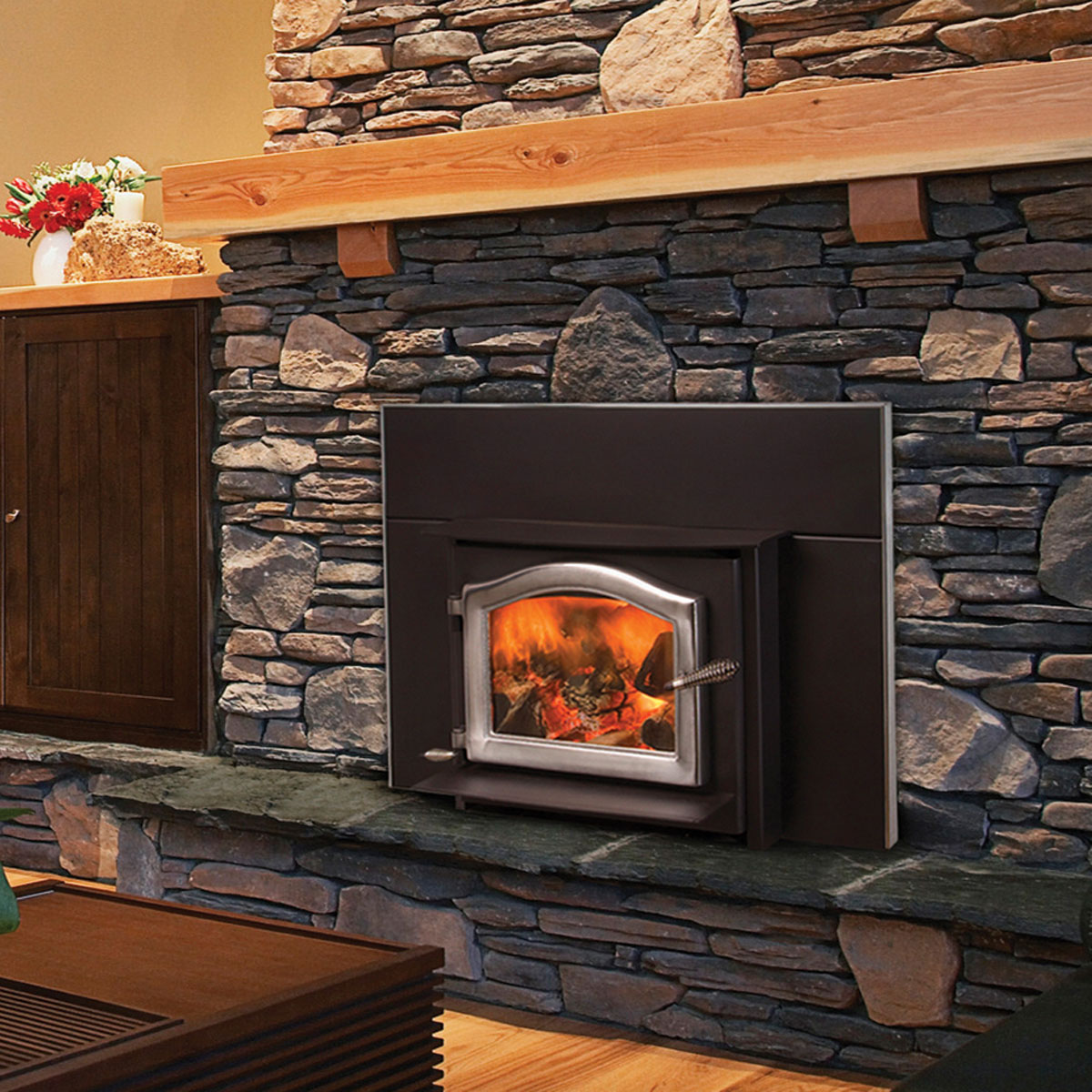 Ashwood Fireplace Insert, Wood Stove Insert by Kuma Stoves