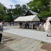 太鼓台出門の数時間後、今度は神輿が川行神事の為に出門する