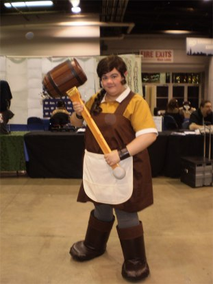 Stephanie as Bella Stubbs, Dwarven Entrepreneur.