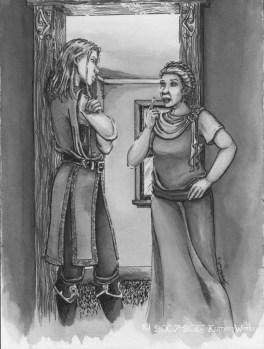 """Dorian Consults Sybilla"" Illustration from Issue 8, ""Astria Olexa""."