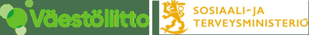 Väestöliiton ja sosiaali- ja terveysministeriön logot