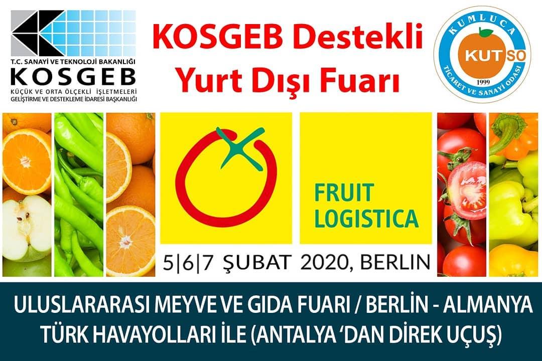 KOSGEB Destekli Yurtdışı Fuar Organizasyonu.