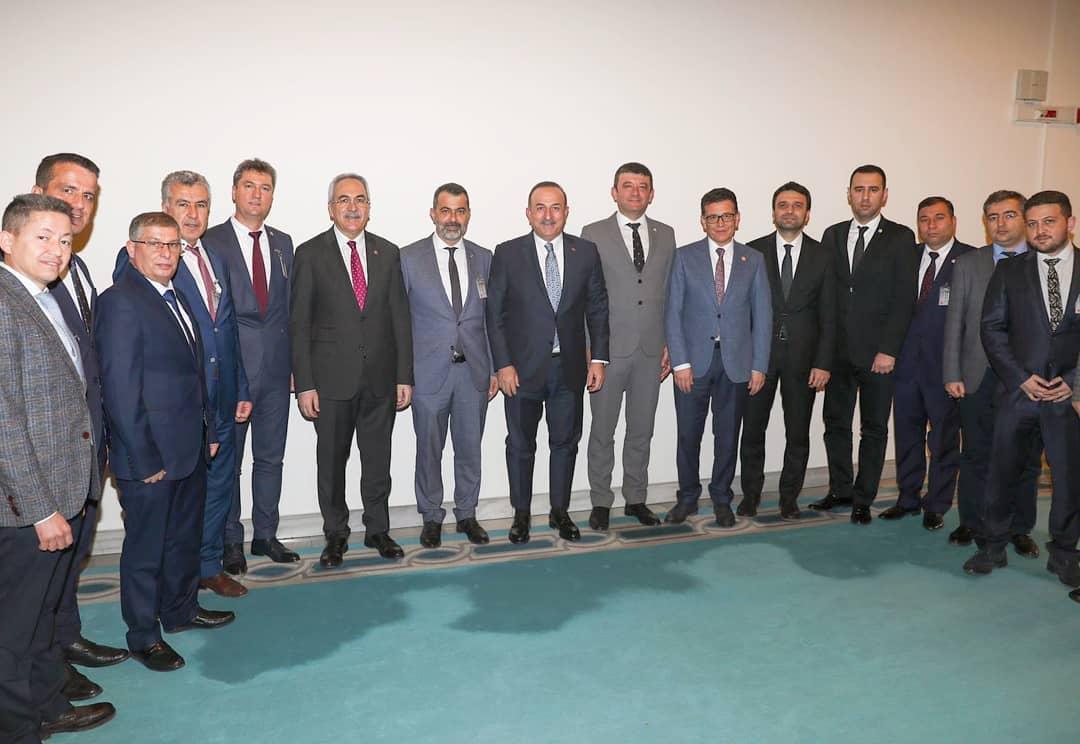 Dışişleri Bakanımız Sayın Mevlüt Çavuşoğlu'nu ziyaret ettik.