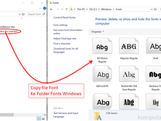 Cara Install Font ke Windows 10