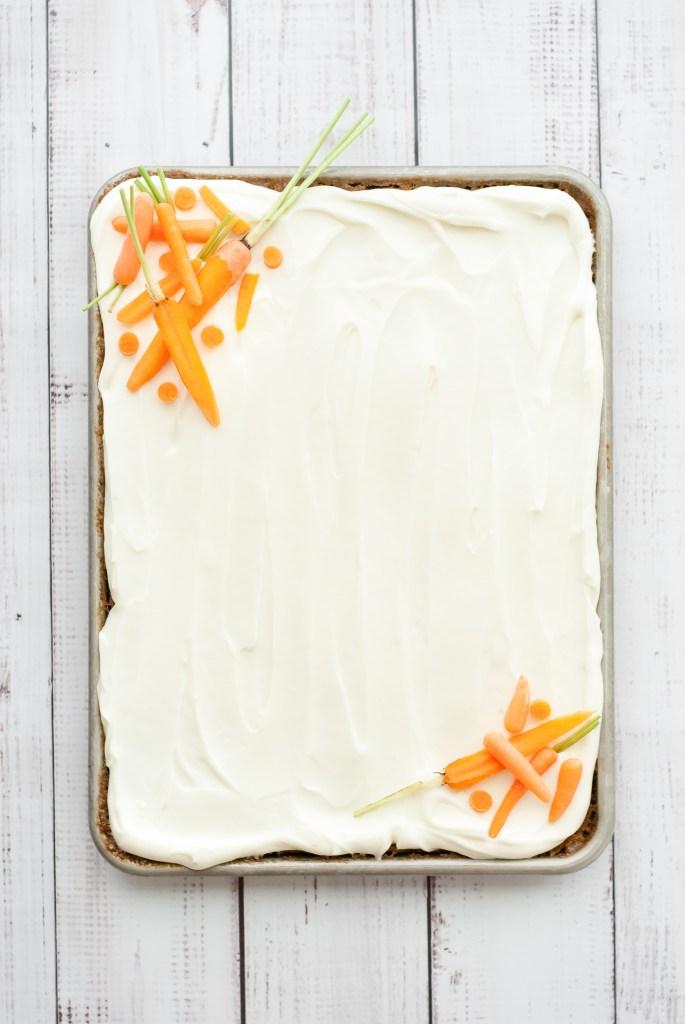 Simple Grain-Free Carrot Cake with Cream Cheese Frosting | kumquatblog.com @kumquatblog recipe