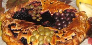 Пирог «Корзина с виноградом»