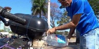Бразилец собрал мотоцикл, работающий на воде