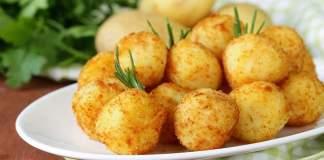 Картофельно-творожные крокеты