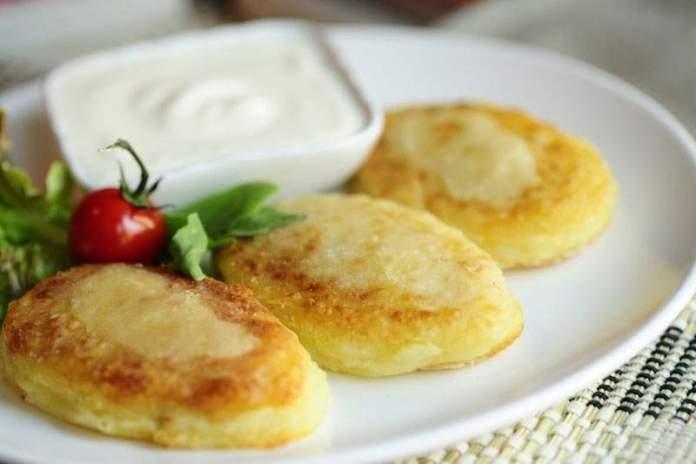 Картофельные пампушки с творогом